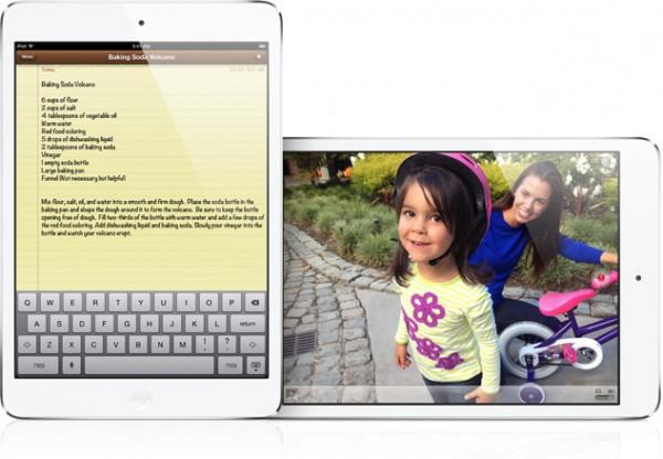 iPad mini rodando o app Notas