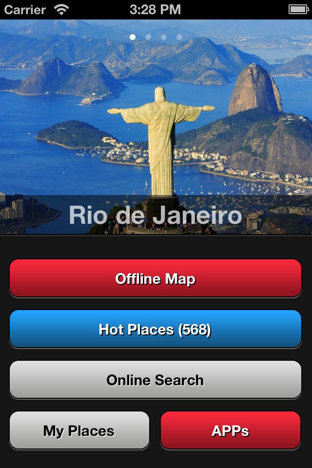 Rio de Janeiro Travel Map