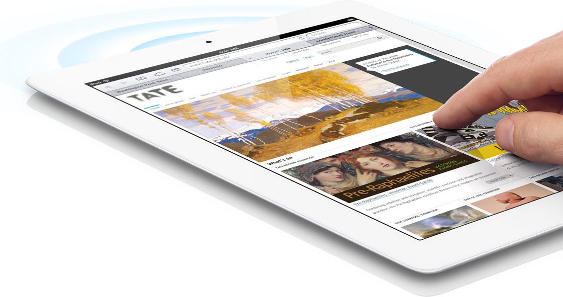 Conexão sem fio ultrarrápida do iPad