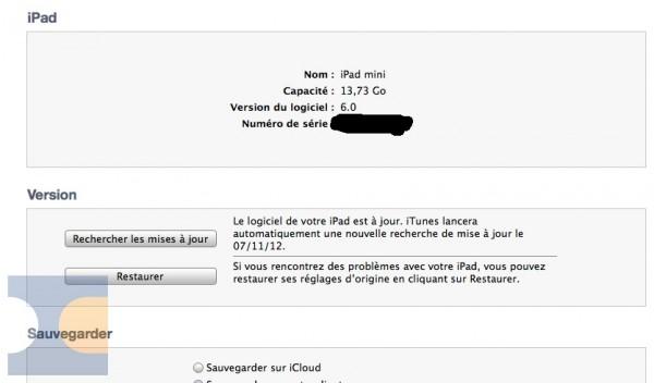 iPad mini requer o iTunes 11