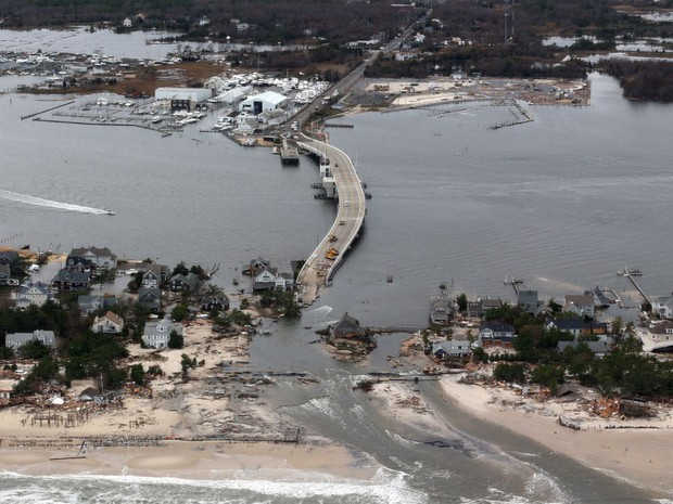 Estragos causado pela tempestade Sandy, em Nova Jersey