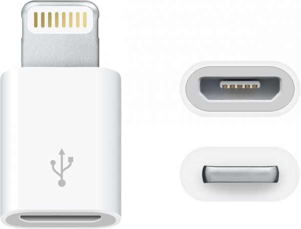 Apple - Lightning to Micro USB Adapter