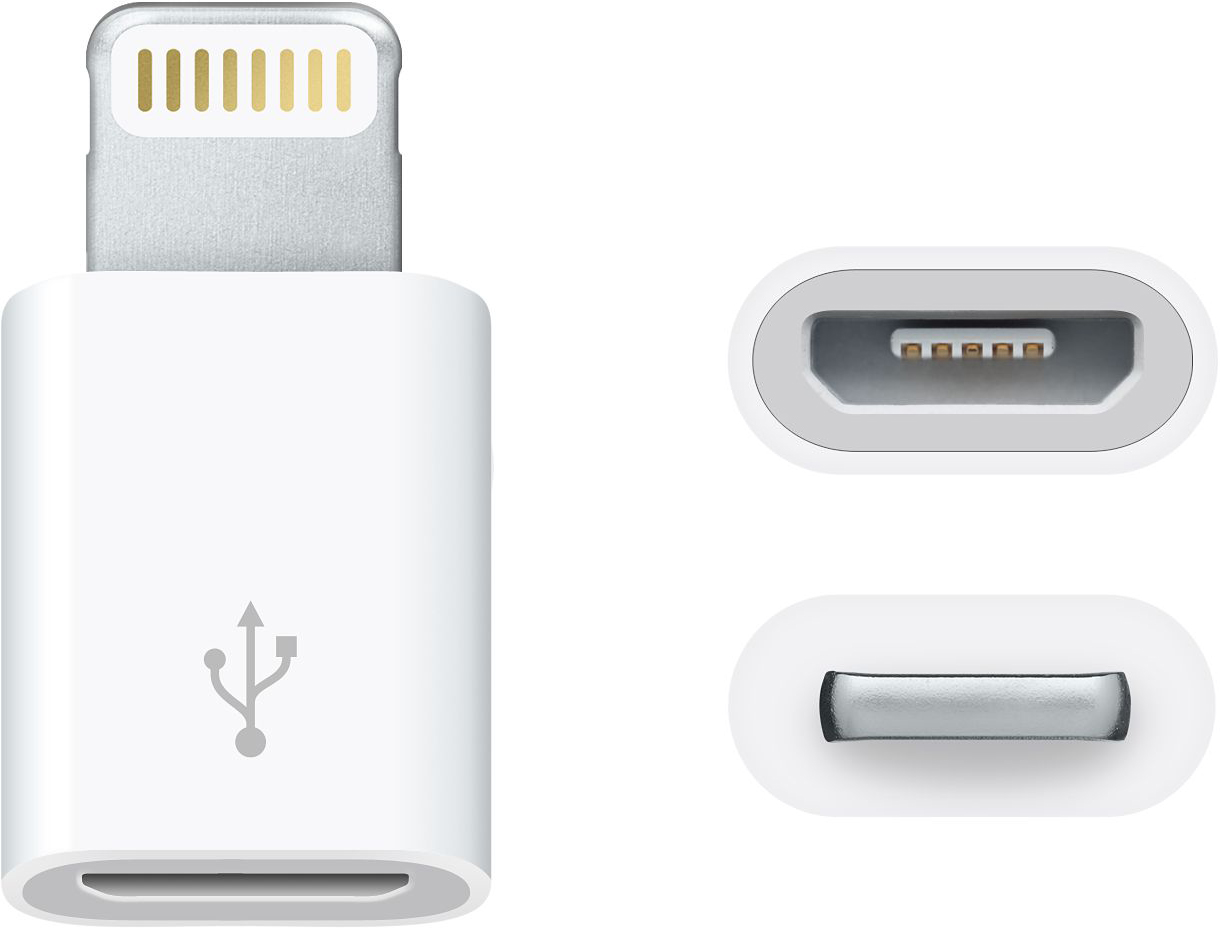 Apple - Lightning to Micro USB Adapter