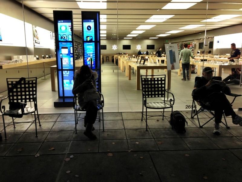 Fila para o iPad mini em Seattle