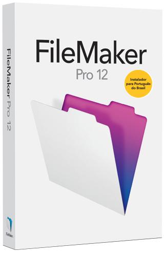 Caixa do FileMaker Pro 12 em português