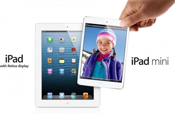 iPad de quarta geração e iPad mini