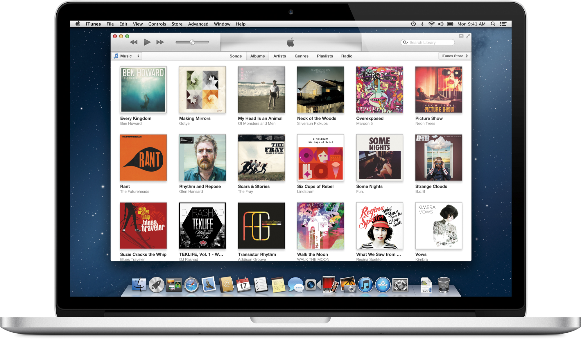 iTunes Store do iTunes 11 num MacBook Pro Retina