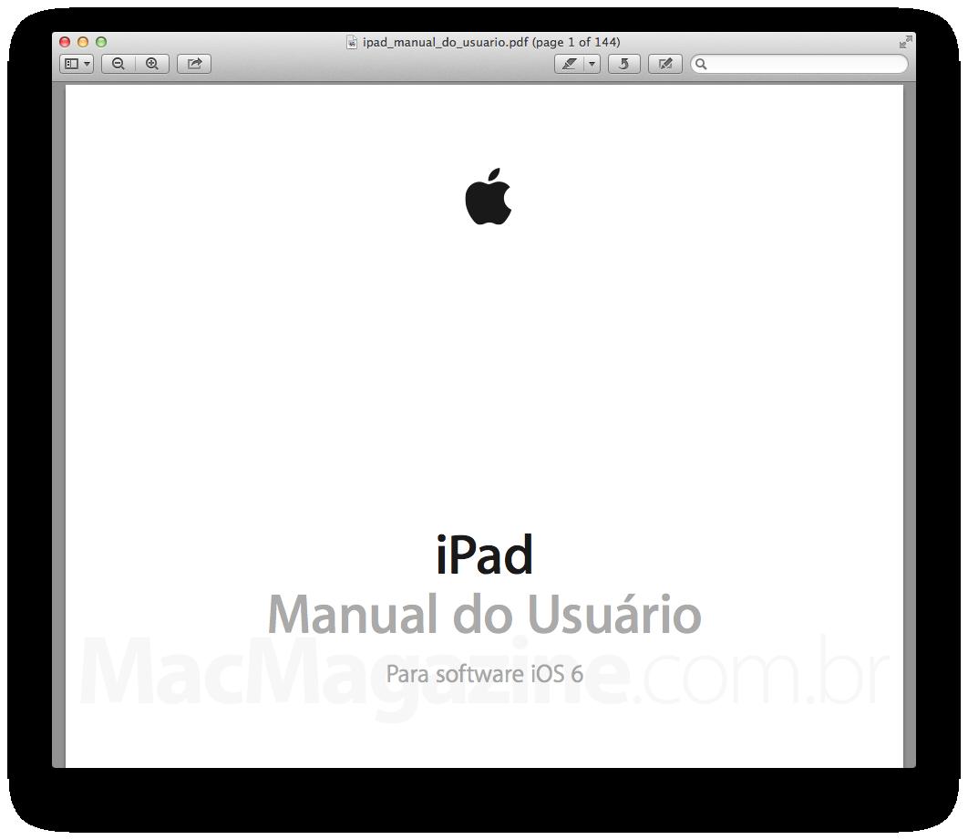 Manual do Usuário - iPad