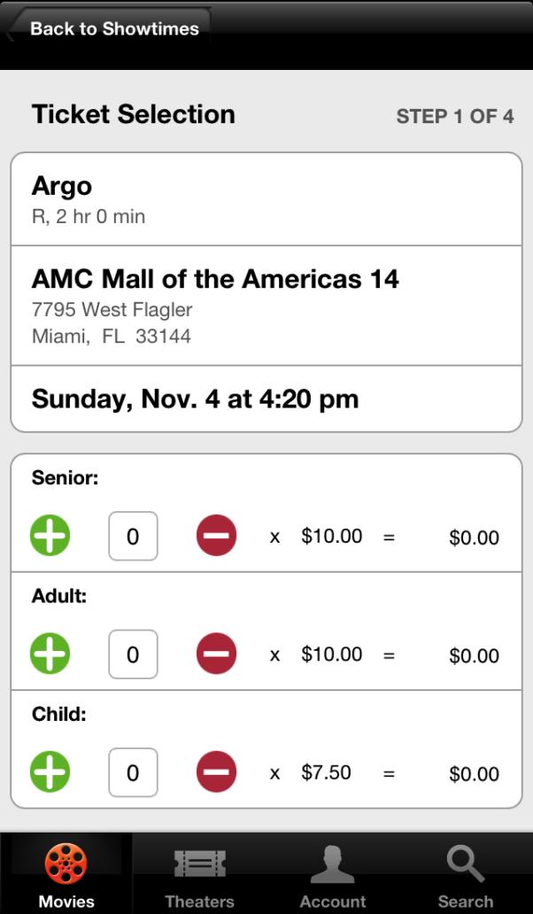 Siri comprando ingresso de cinema