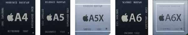 Família de processadores da Apple (A4, A5, A5X, A6 e A6X)