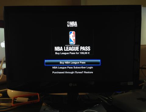 Jogos da NBA em Apple TV francês