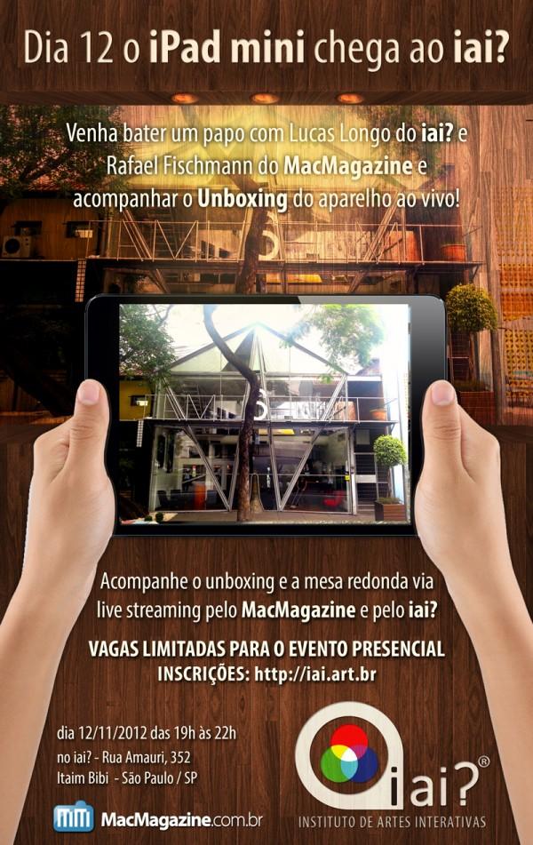 iai? Instituto de Artes Interativas e MacMagazine em evento sobre iPad mini