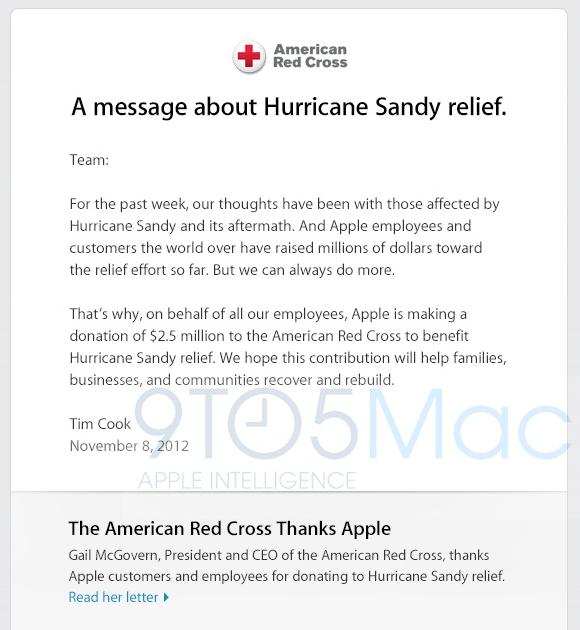Doação da Apple para a Cruz Vermelha