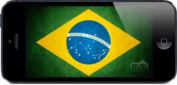 Bandeira do Brasil em iPhone 5