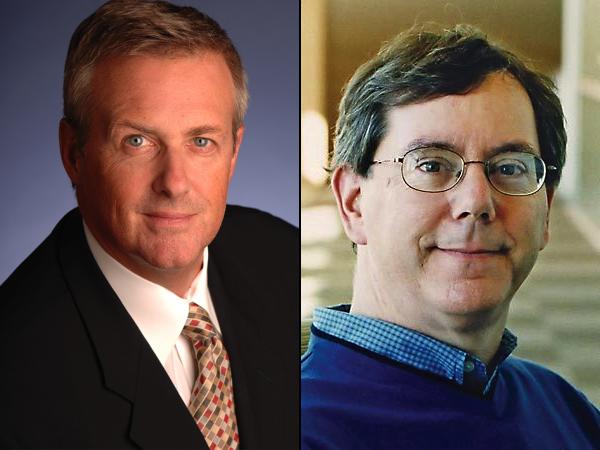 Bruce Sewell e Arthur D. Levinson