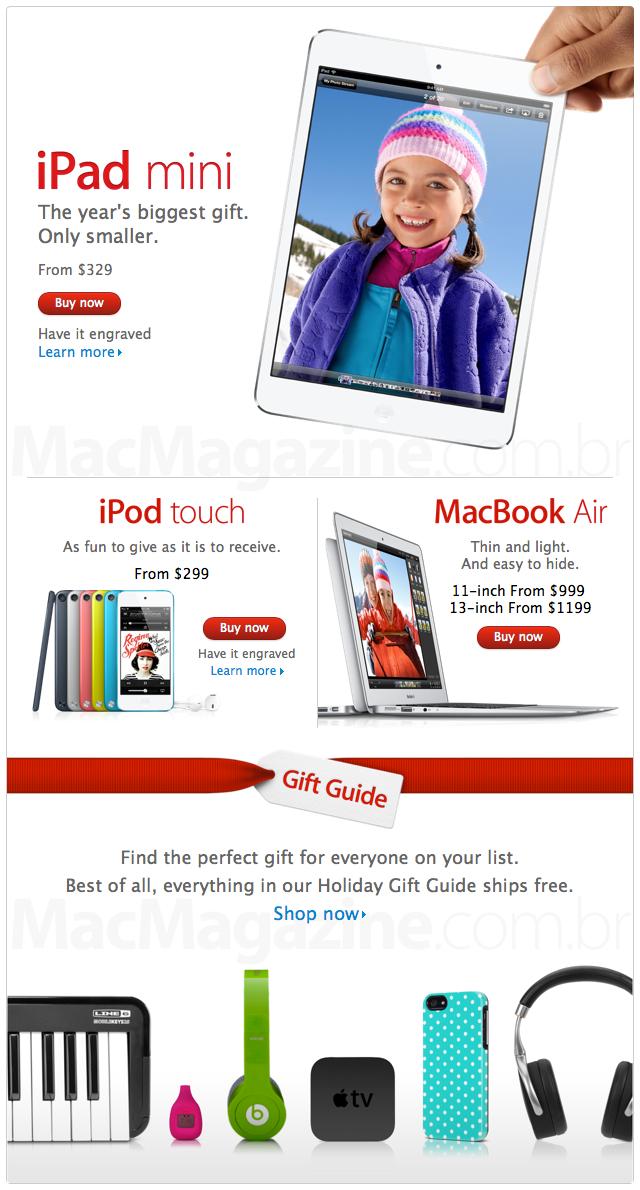 Apple Online Store americana preparada para o Natal