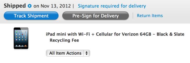 Entrega de iPads Wi-Fi + Cellular