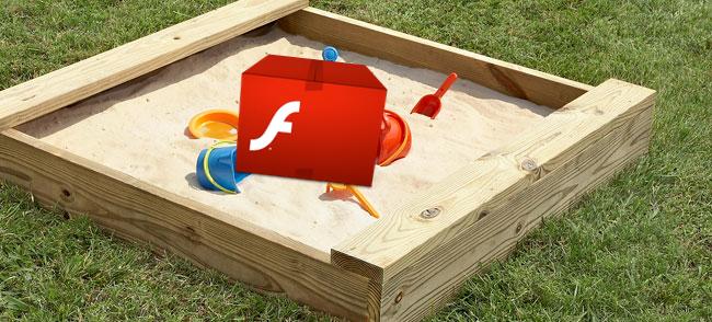 Flash Player em sandbox