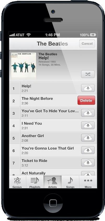 iTunes Match no iOS 6.1 beta 2