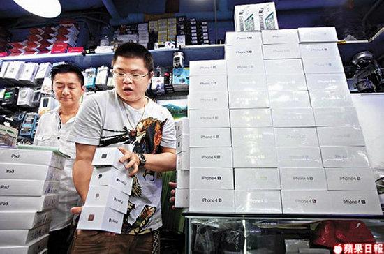 Mercado paralelo de iPhones na China