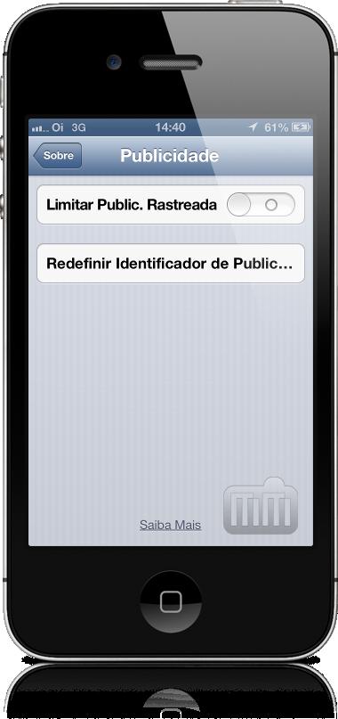 Configurações de publicidade no iOS 6.1 beta 2