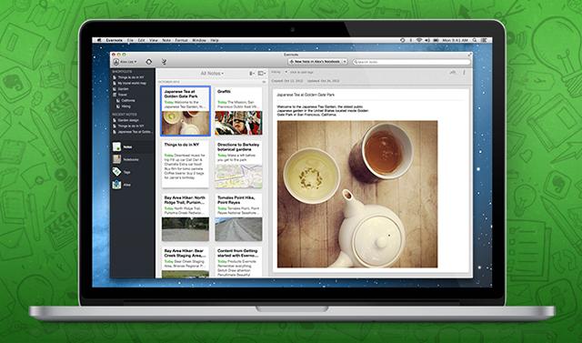 Evernote 5 para Macs