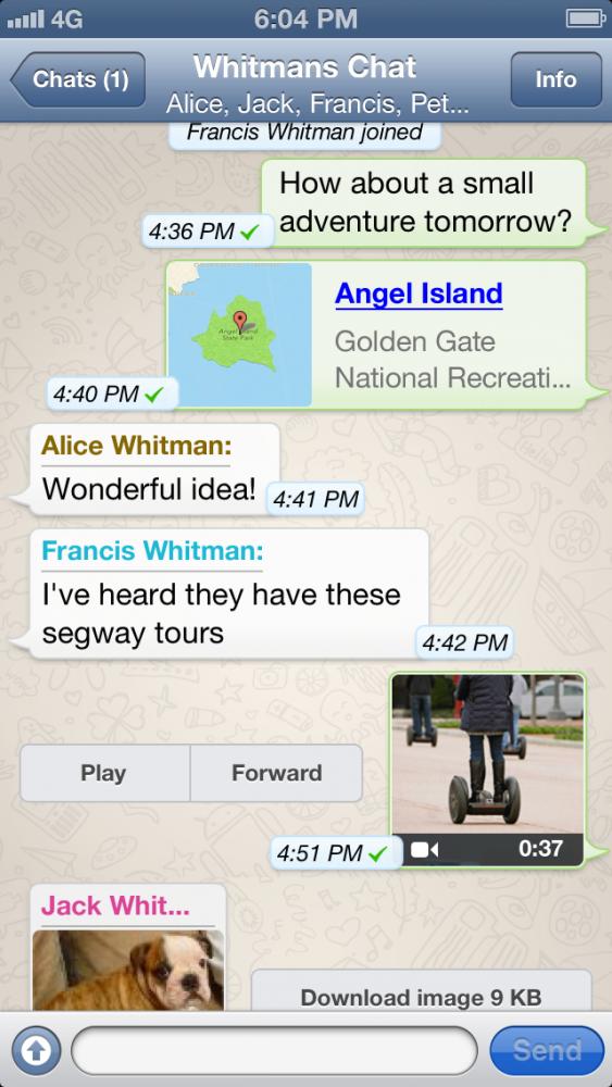 WhatsApp Messenger no iPhone 5