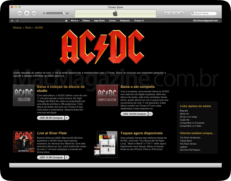 AC/DC na iTunes Store