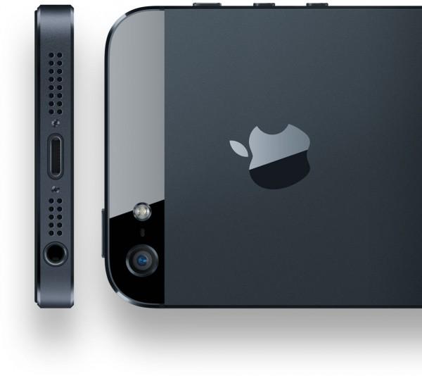 iPhones 5 por trás e por baixo