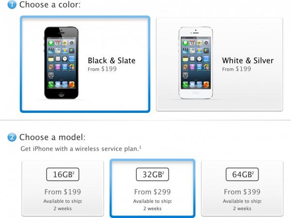 Prazo de entrega do iPhone 5
