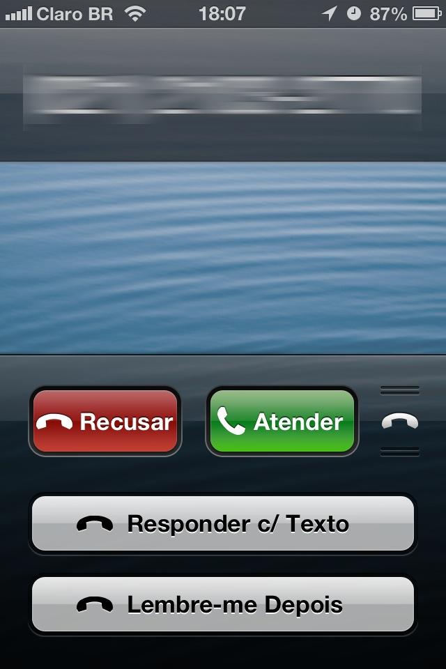 Recurso Mensagem no Telefone do iOS 6