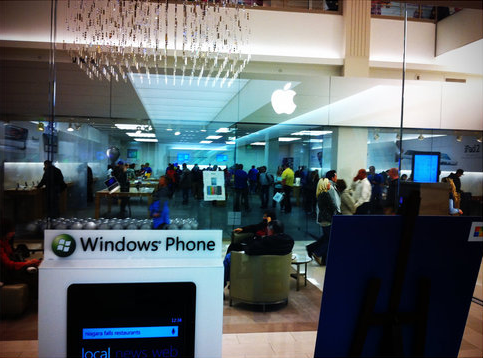 Apple Store e Microsoft Store do Mall of America
