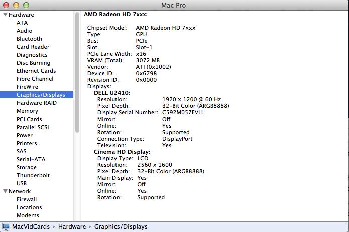 Série de GPUs ATI 7000 suportada no OS X 10.8.3