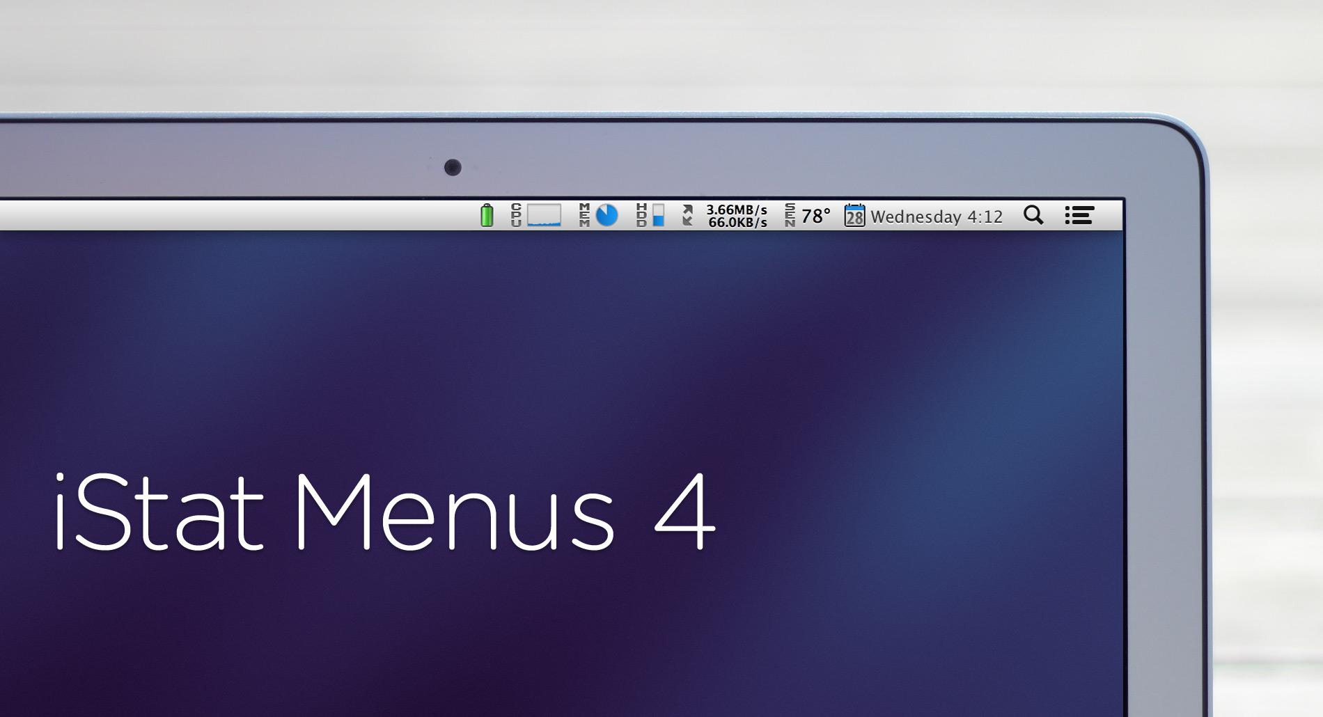 iStat Menus 4.0 no Mac