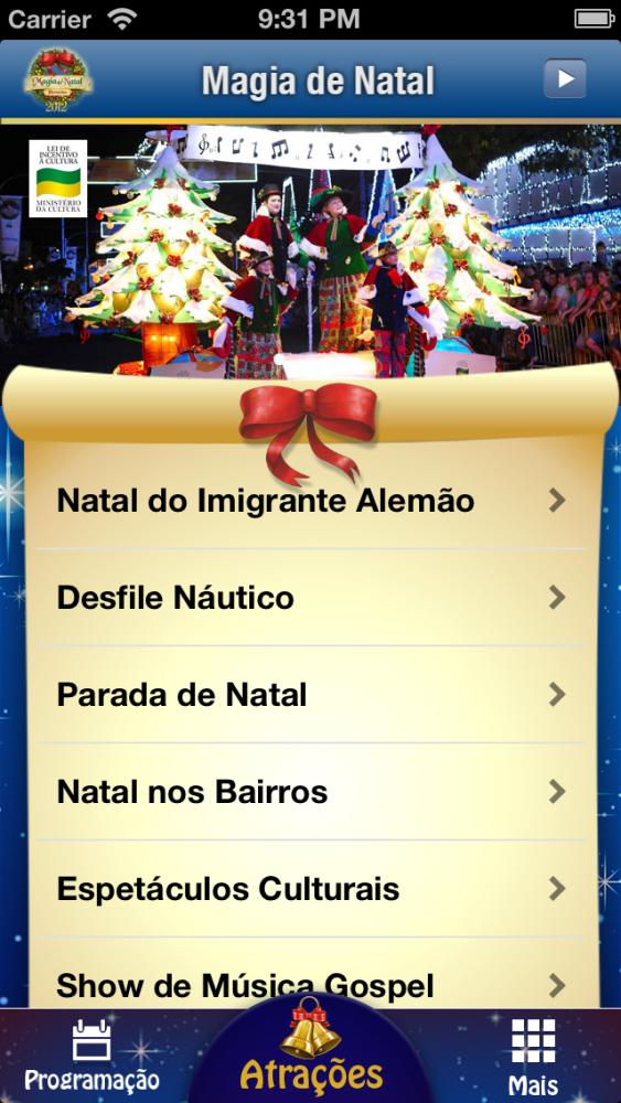Magia de Natal Blumenau 2012