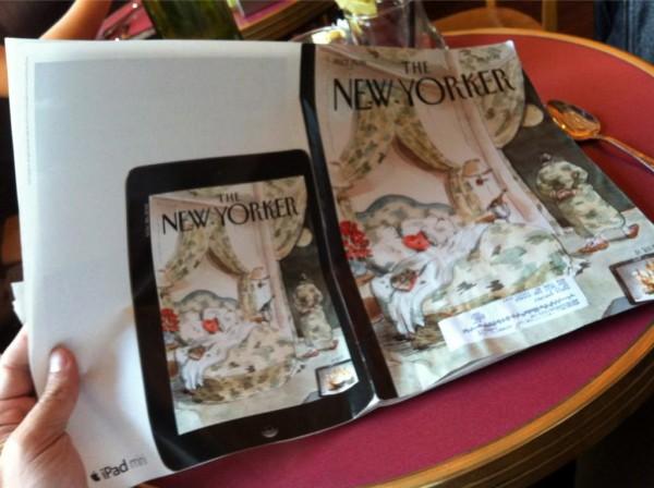 Anúncio do iPad mini na New Yorker