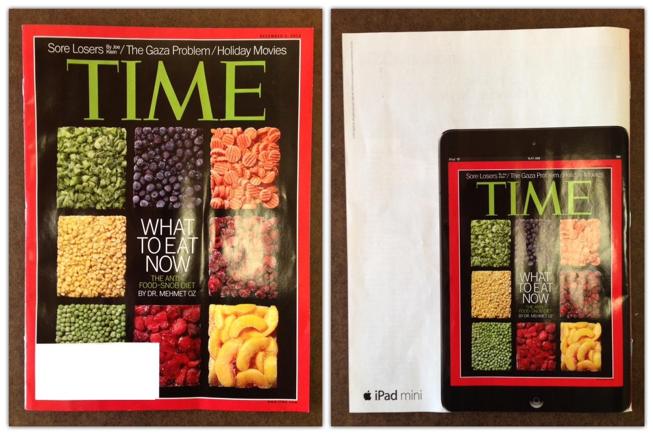 Anúncio do iPad mini na TIME