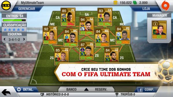 FIFA Ultimate Team (FUT) no FIFA 13 para iOS