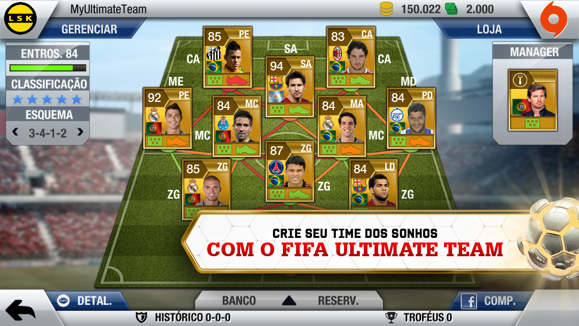 FIFA Ultimate Team (FUT) no FIFA 13 para iOS