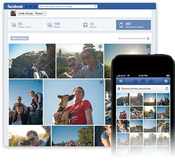Recurso Photo Sync, do Facebook