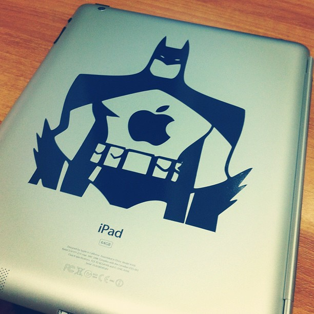 Adesivo do Batman no iPad
