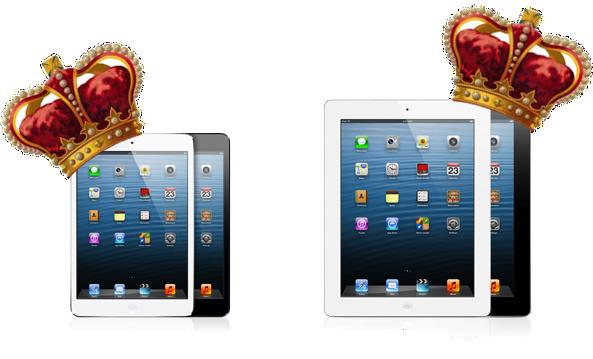 iPad e iPad mini com coroa