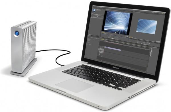 LaCie d2 com MacBook Pro