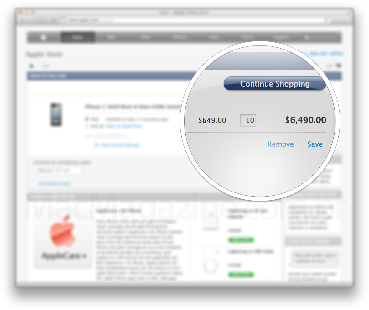 Limite de compra de iPhones 5