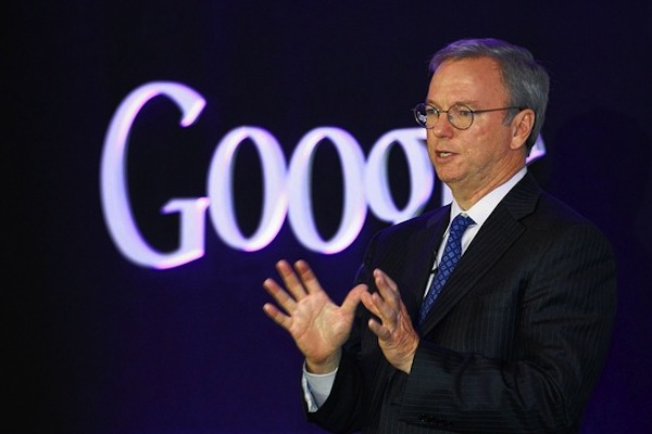 Eric Schmidt, presidente executivo do Google