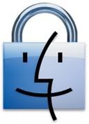 Ícone do Finder com uma tranca