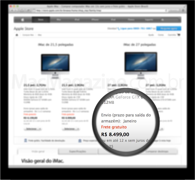 iMac de 27 polegadas para janeiro
