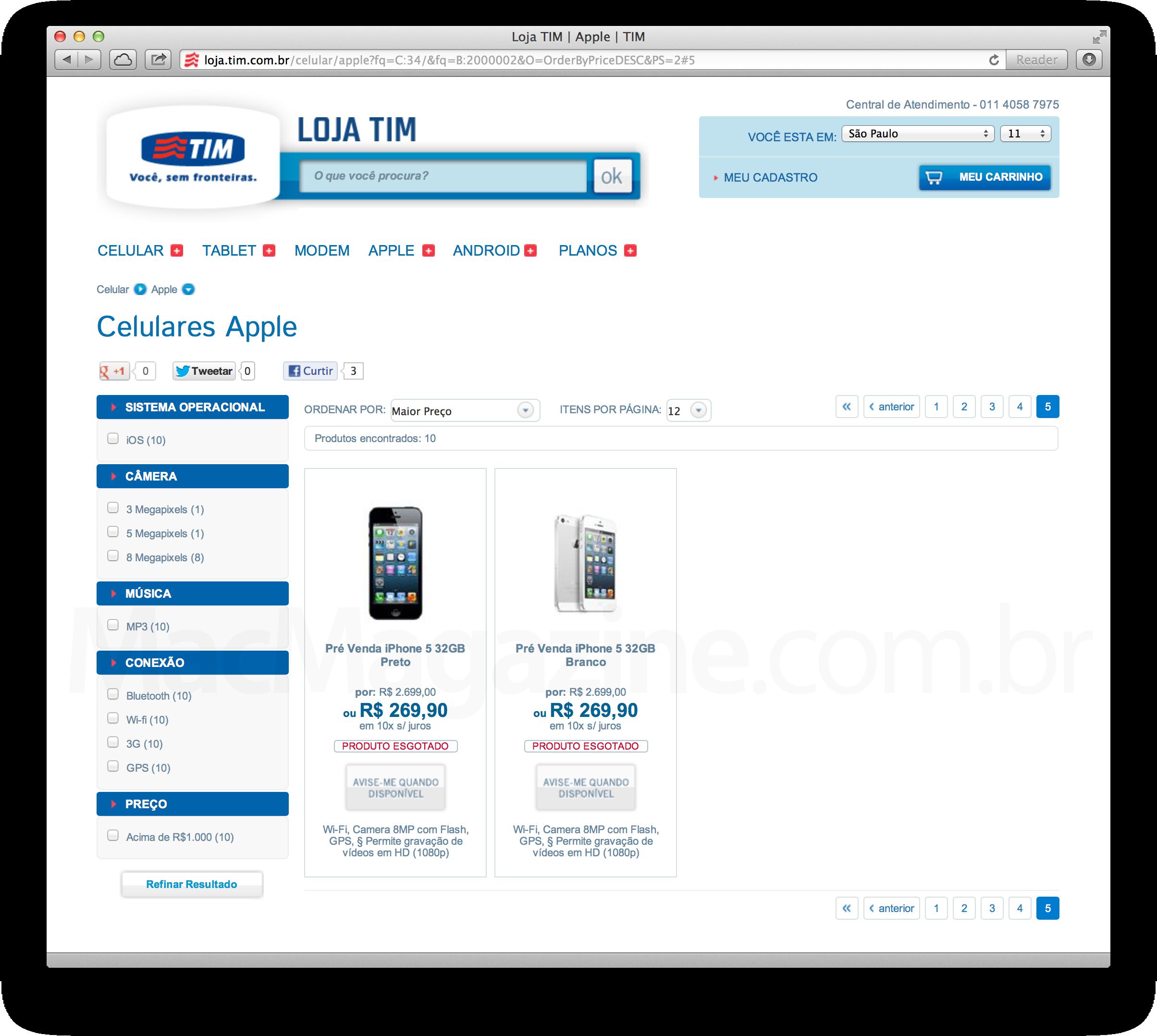 iPhone 5 na TIM