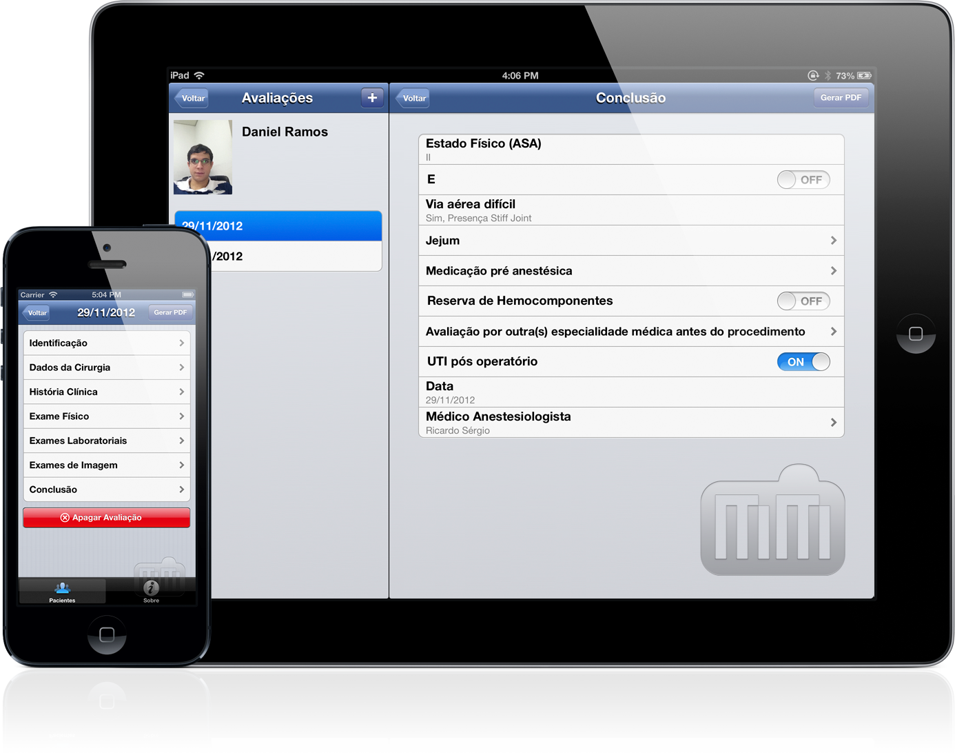 Avaliação Pré Anestésica - iPad e iPhone
