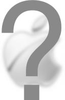 Logo da Apple sob um ponto de interrogação